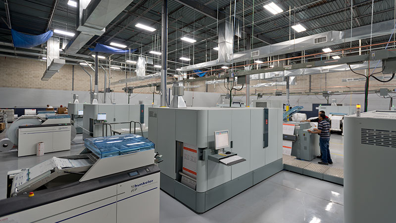 Canon Solutions America digital printers and hunkeler binding equipment at Access Direct